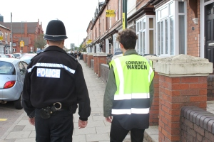Police Officer and Community Warden on Patrol in Selly Oak