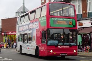 Image of a Number 61 bus in Northfield