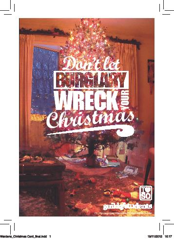 Don't let burglary wreck your Christmas