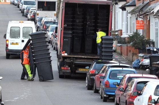 Wheelie Bins being delivered in Bournbrook