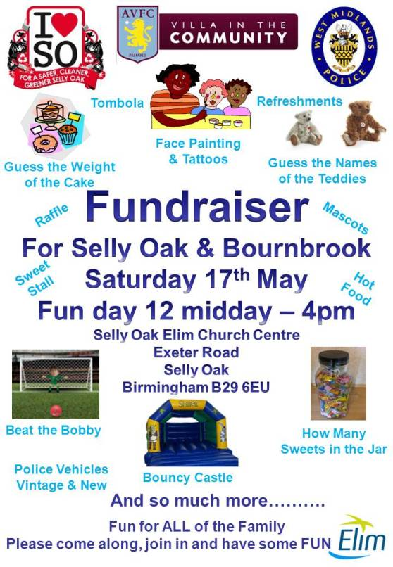 Selly Oak Fundraising Poster